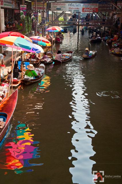 floating market thailand copyright Aloha Lavina