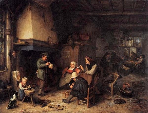 Peasants in an Interior 1661 Adriaen van Ostade