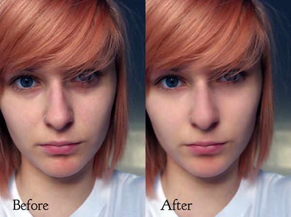 Before After Portrait enhance