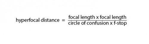 hyperfocal dist formula