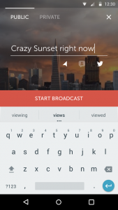 prebroadcast screen