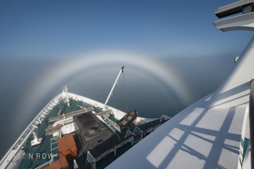 An Ice Bow around the bow of a ship in Greenland