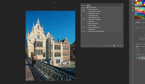 In Photoshop you can create actions