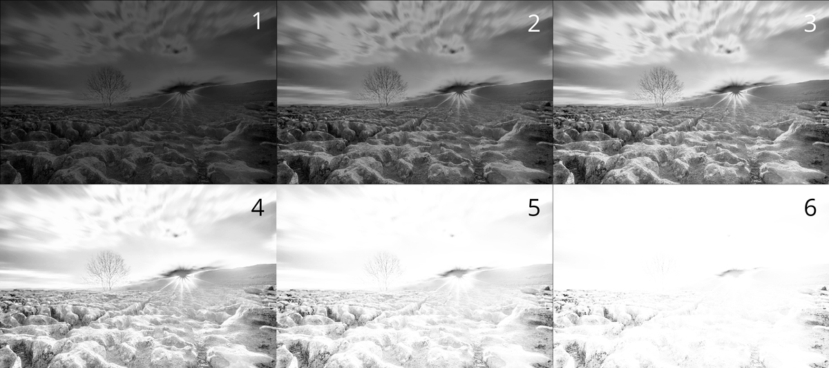 6 midtones luminosity masks for the example image above