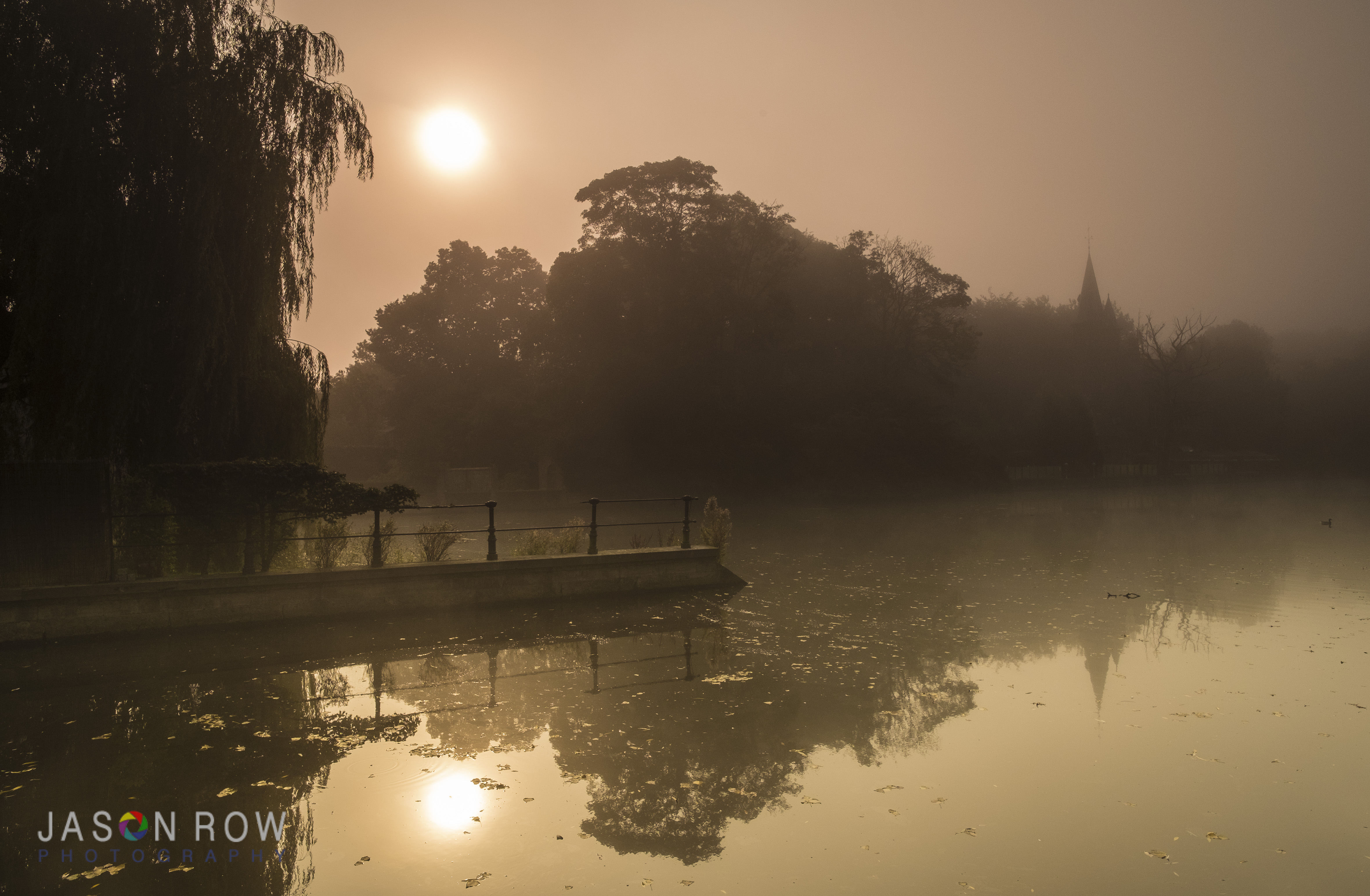 A golden dawn on Minnewater in Bruges. By Jason Row Photography