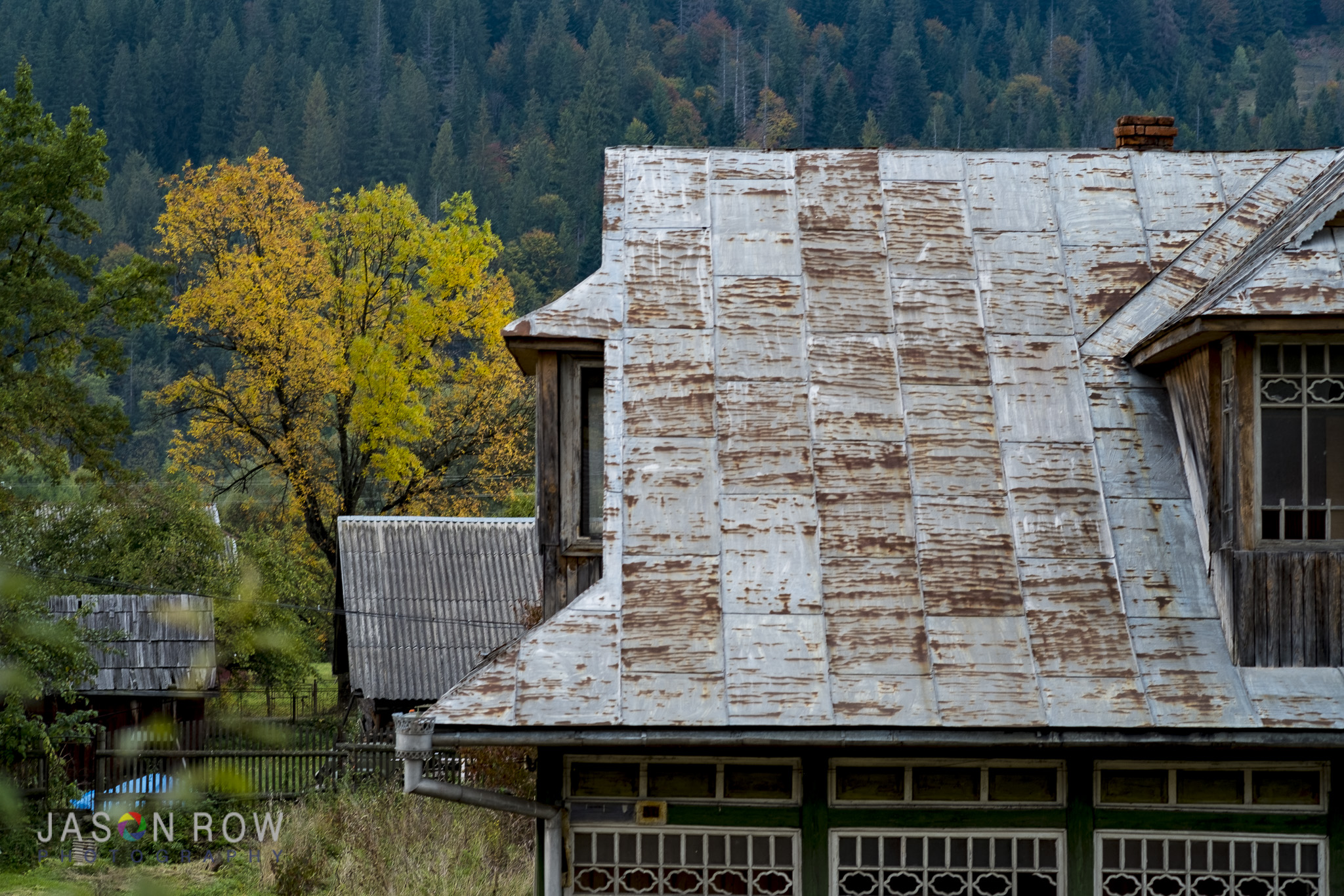 Beautiful autumn colours in Mykulychyn. By Jason Row Photography