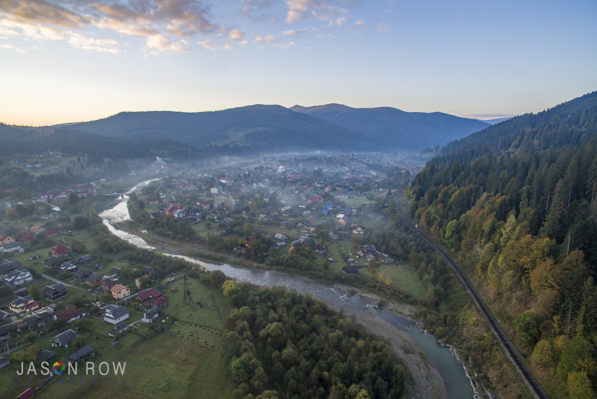 Autumn Dawn in the Carpathians. By Jason Row Photography