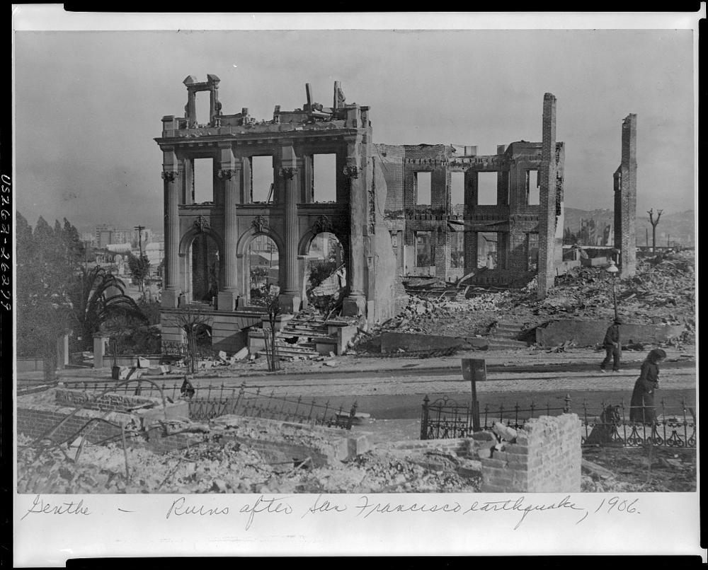 Ruins after San Francisco earthquake, 1906