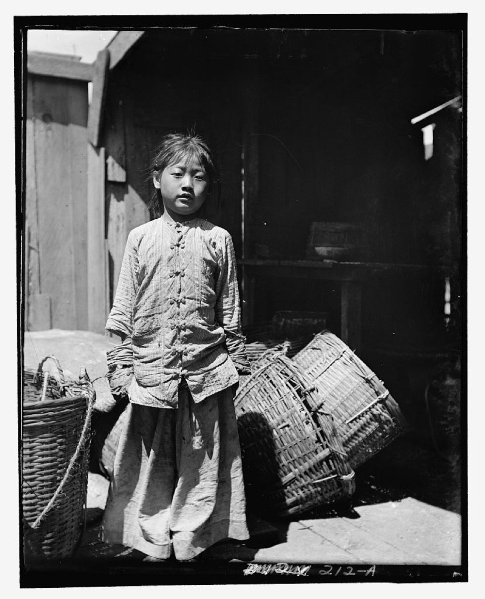 The fish dealer's daughter, Chinatown, San Francisco