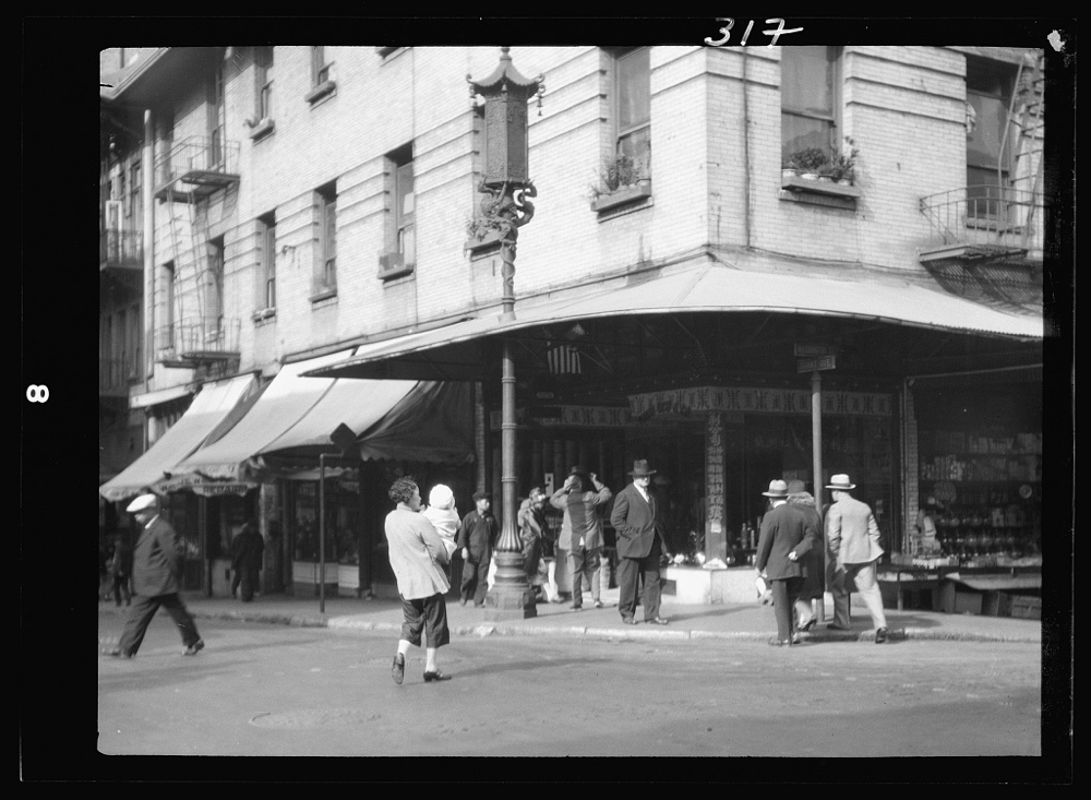Street corner in Chinatown, San Francisco