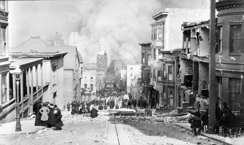 Looking Down Sacramento St., 1906