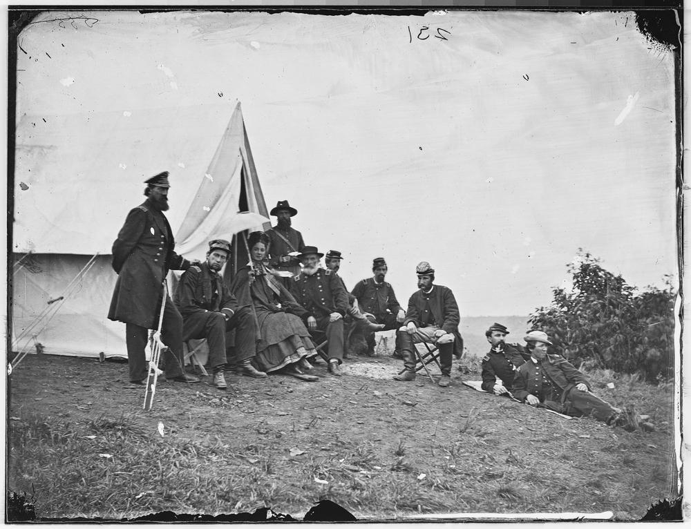 Gen. John J. Abercrombie and staff of eight
