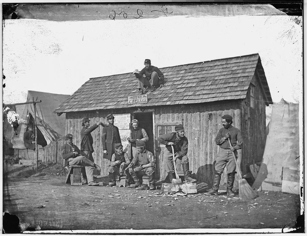 """Pine Cottage"", Soldiers' winter quarters"