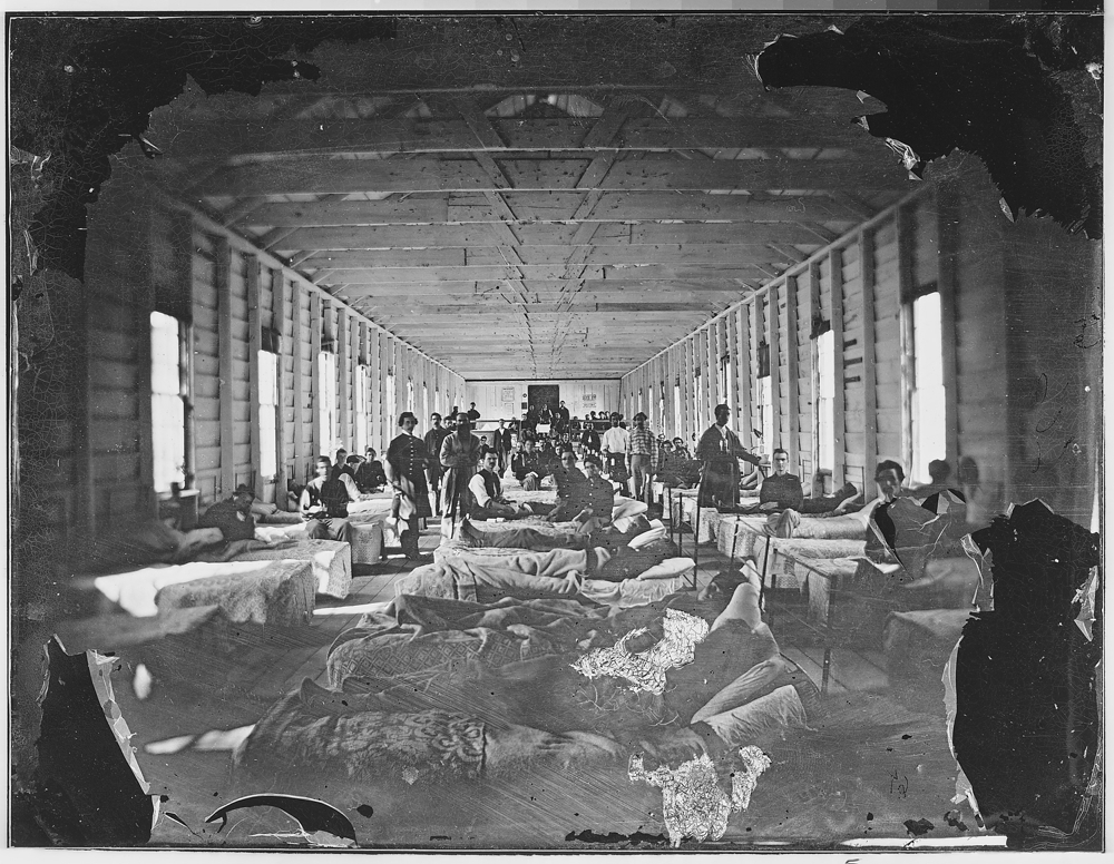Wounded soldiers in hospital