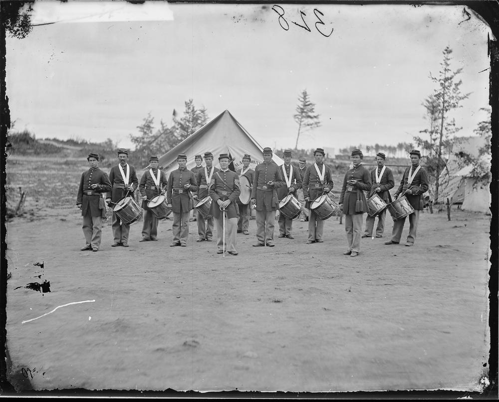 Regimental drum corps