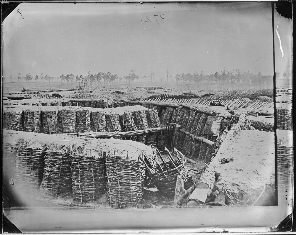 Confederate Trenches. Fascine Trench Breastworks, Petersburg, Va.