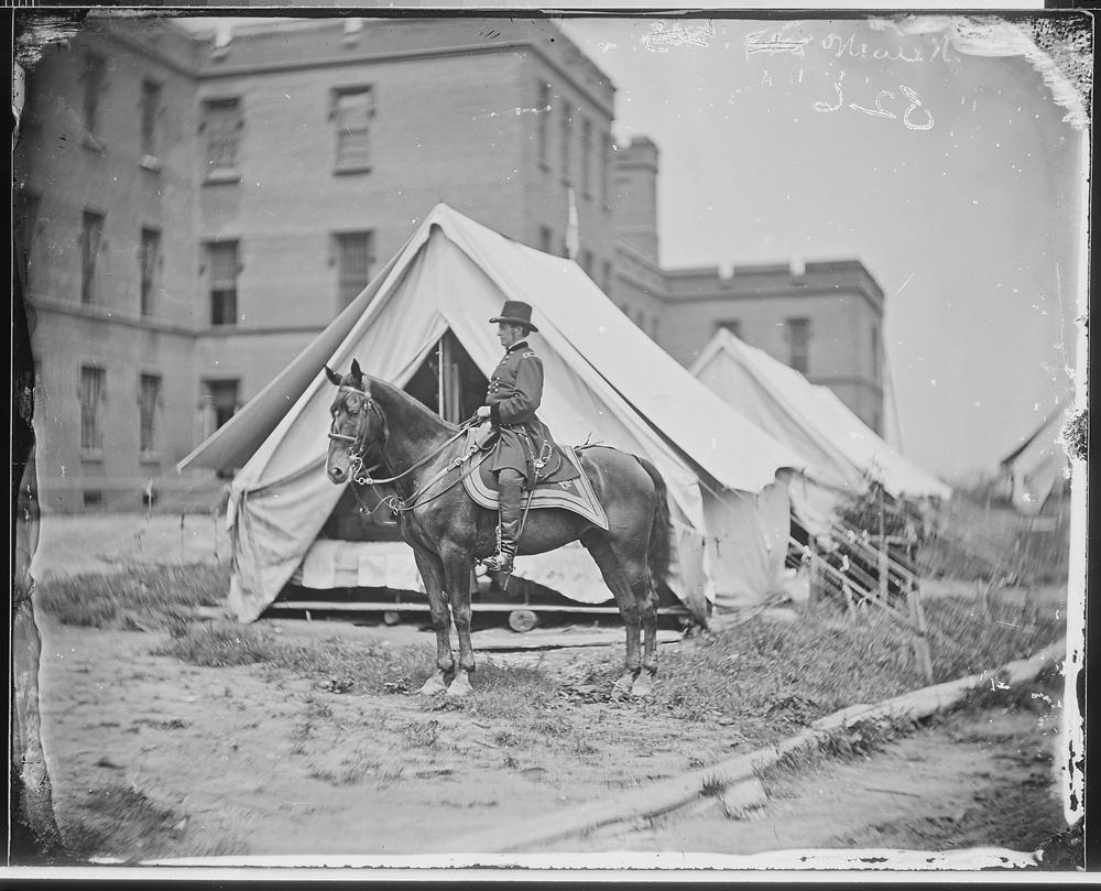 Gen. Joseph Hooker and horse