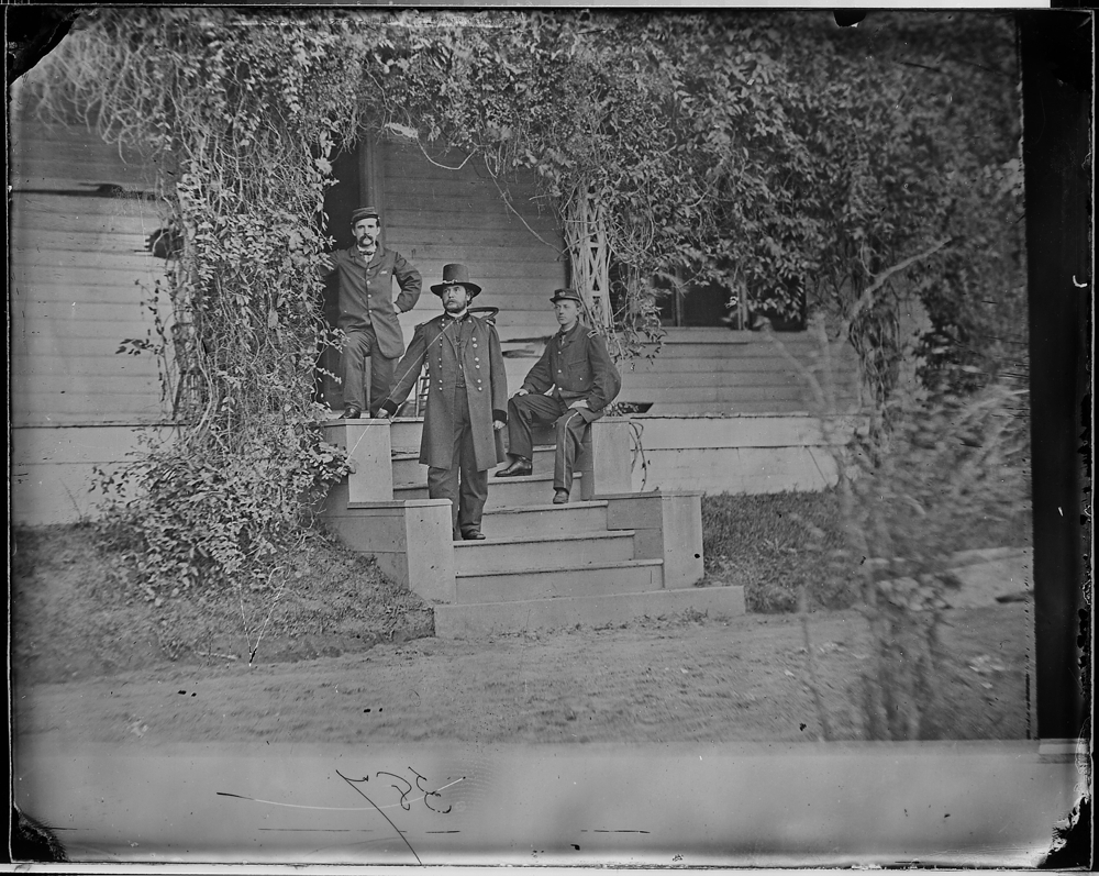 Gen. Rufus Ingalls. Col. Ames Webster, and group