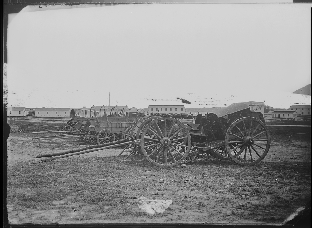 Army wagons and forge, near City Point, Va
