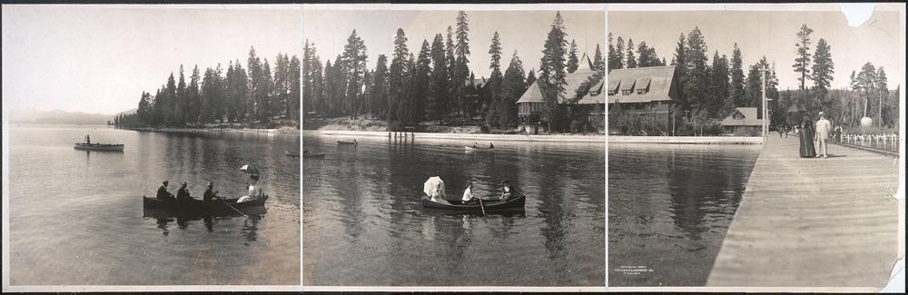 Lake Tahoe, Cal., showing hotels and broad walk
