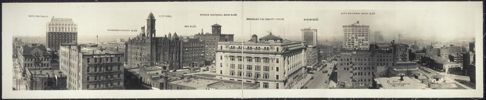 Panoramic view of Omaha from Grain Exchange Bldg.