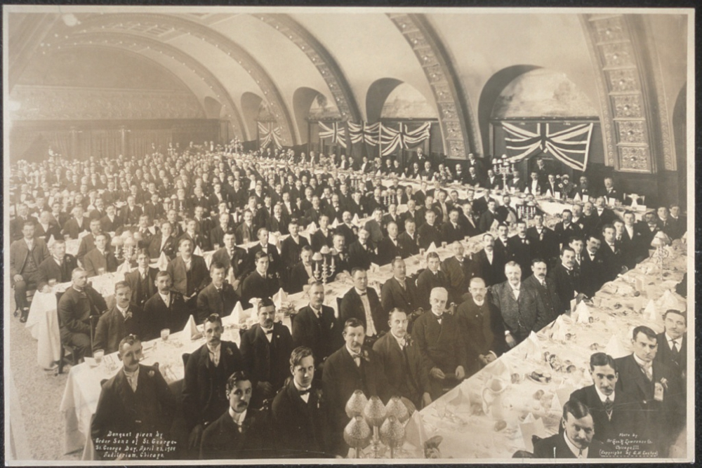 Banquet given by Order Sons of St. George, St. George Day, April 23, 1904, Auditorium, Chicago