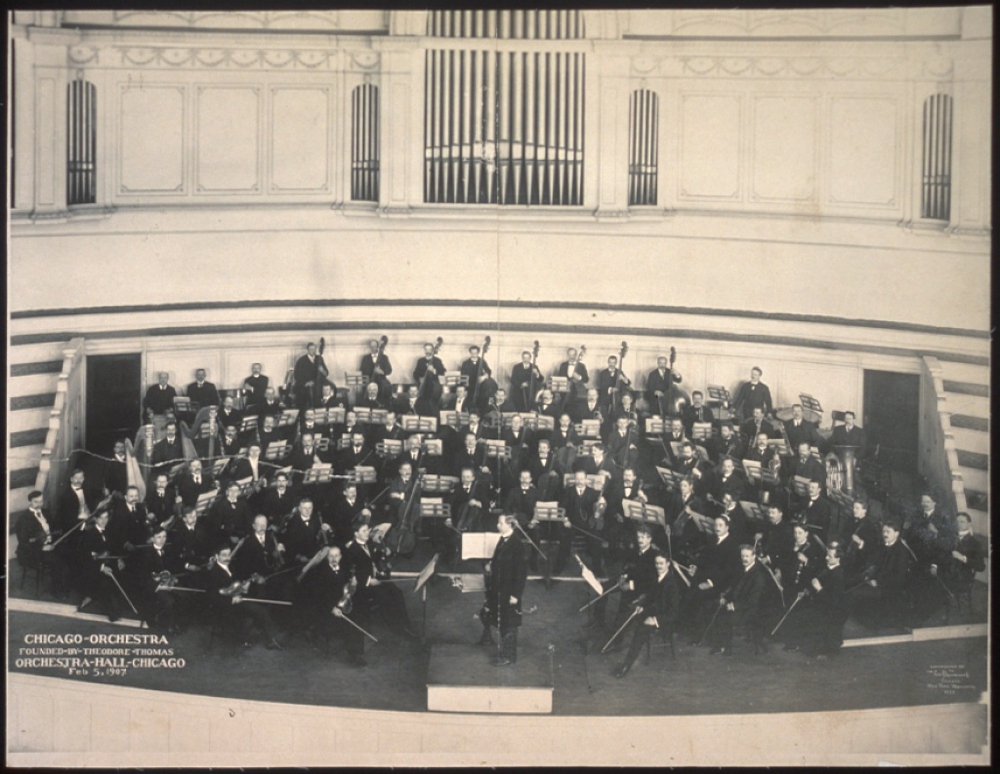 Chicago Orchestra, founded by Theodore Thomas, Orchestra Hall, Chicago, Feb. 5, 1907