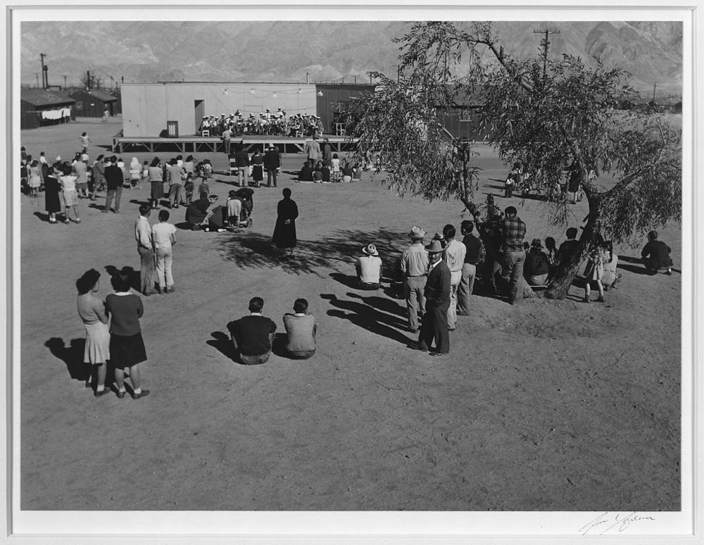 Band concert, Manzanar Relocation Center