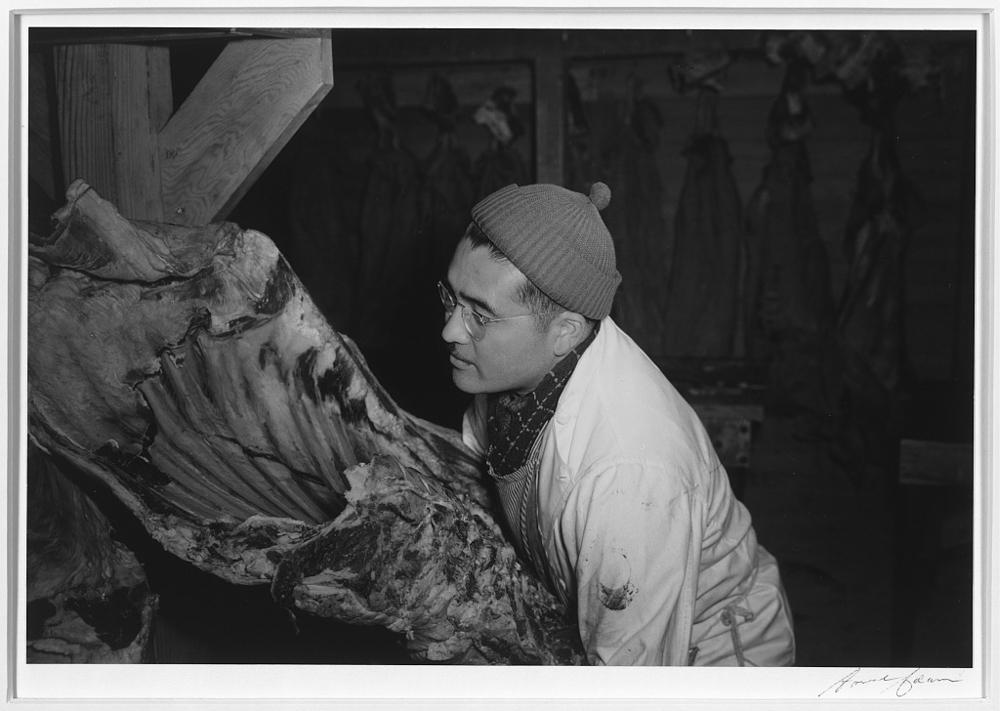 Butcher shop, (J.S. Yonai), Manzanar Relocation Center