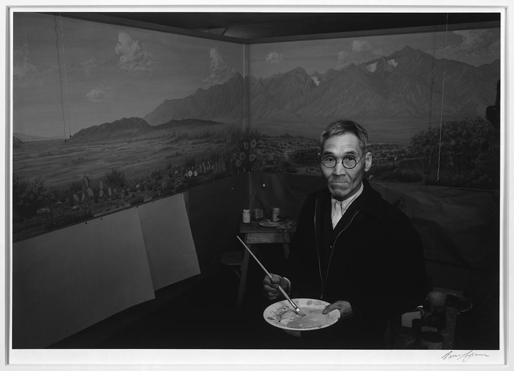 C.T. Hibino, artist, Manzanar Relocation Center