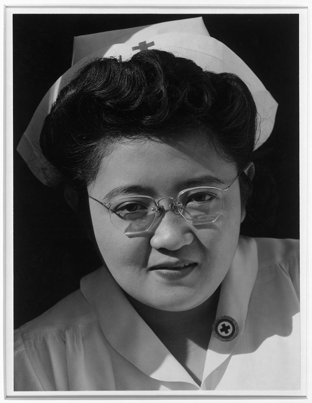 Catherine Natsuko Yamaguchi, Red Cross instructor, Manzanar Relocation Center, Cal.