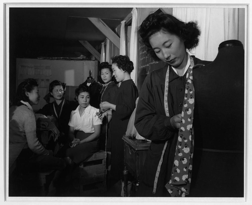 Dressmaking class, Manzanar Relocation Center, California