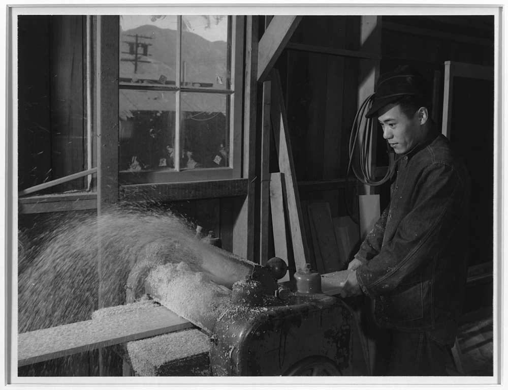 Hidemi Tayenaka, wood worker, Manzanar Relocation Center, California