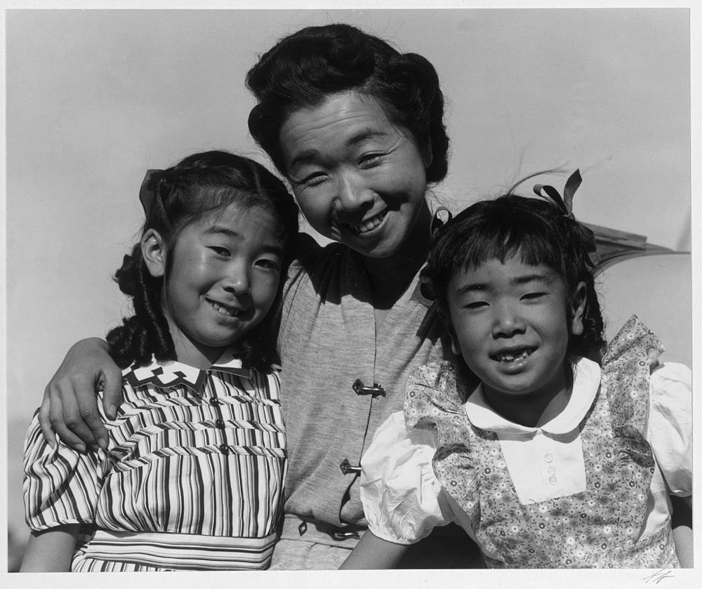 Mrs. Nakamura and 2 daughters (Joyce Yuki and Louise Tami)