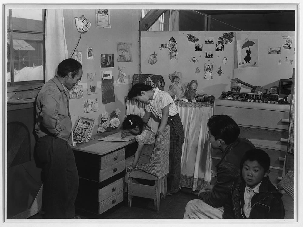 Tojo Miatake [i.e. Tōyō Miyatake] Family, Manzanar Relocation Center
