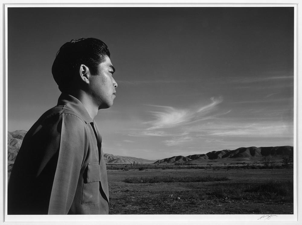 Tom Kobayashi, landscape, south fields, Manzanar Relocation Center
