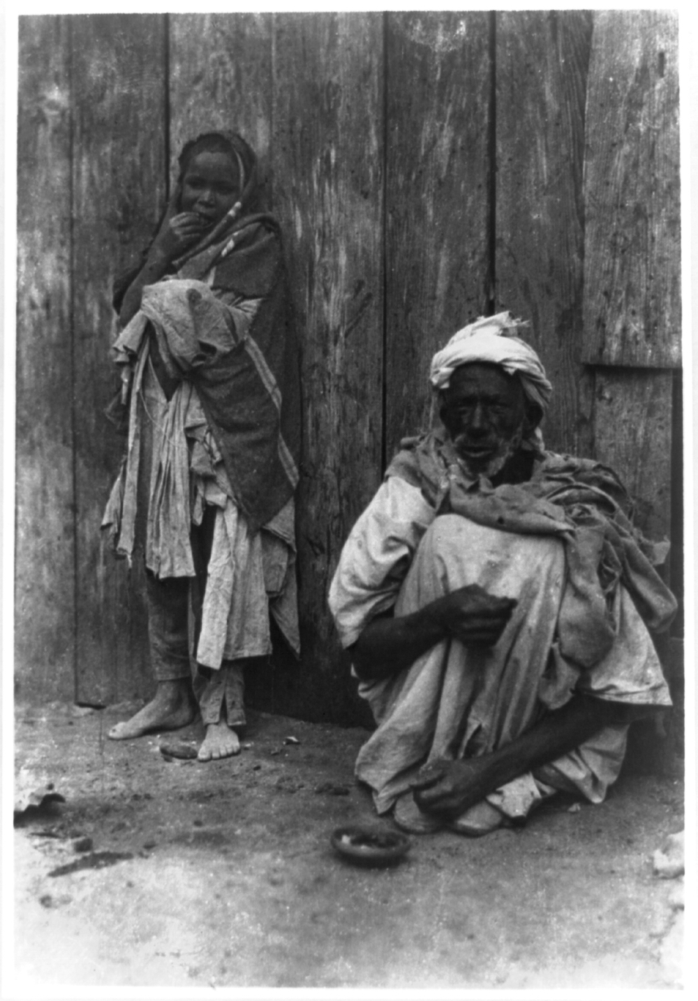 Algeria - Fort Flatters. Old Arab and his fourteen year old wife