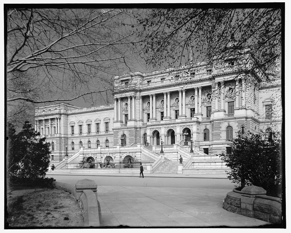 Entrance pavilion, Library of Congress, Washington
