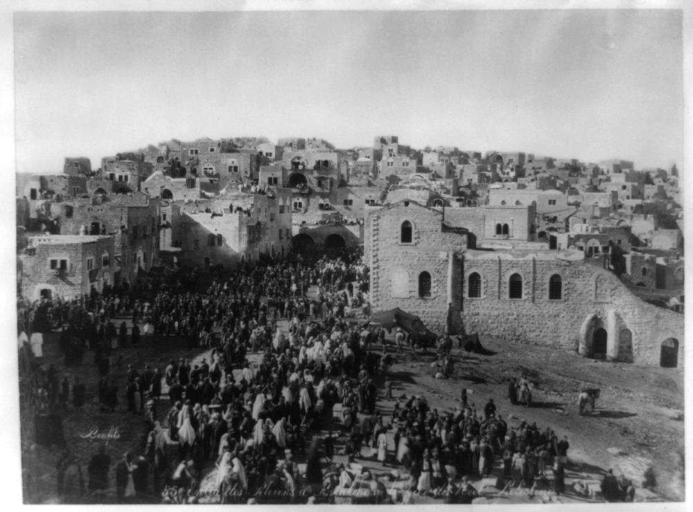 Entry of Pilgrims into Bethlehem at Christmas time