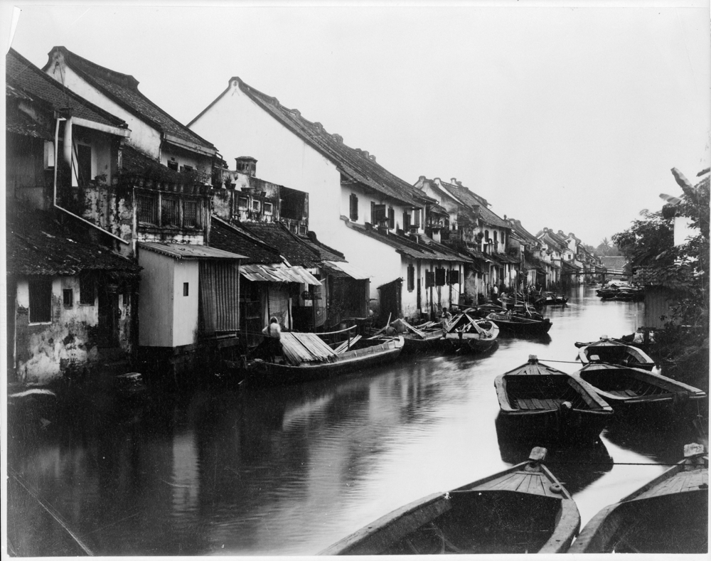 Java - small boats on village canal