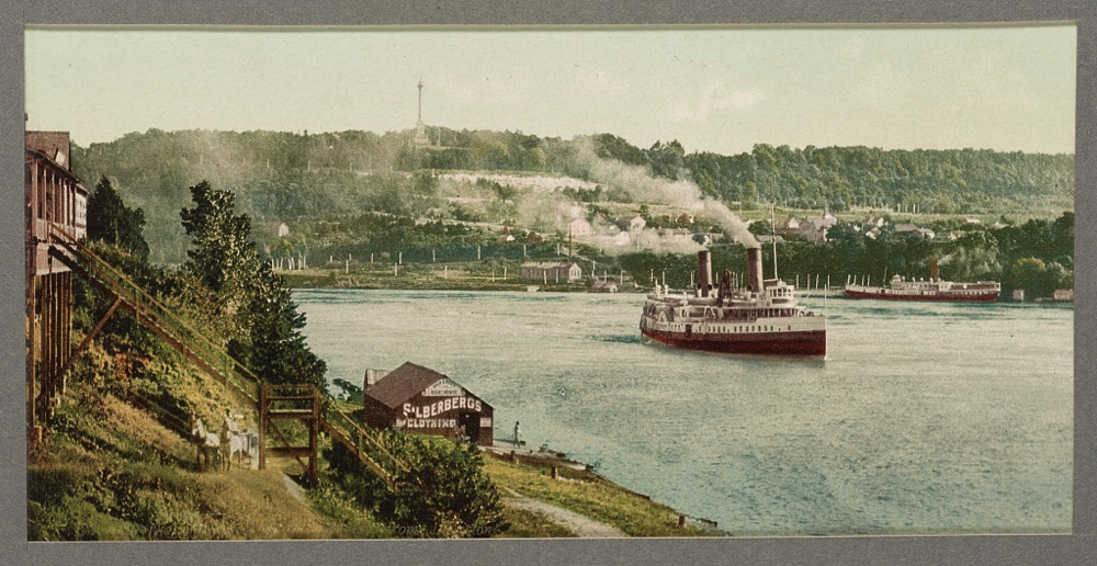 Niagara, Queenstown [i.e., Queenston] Heights from Lewiston
