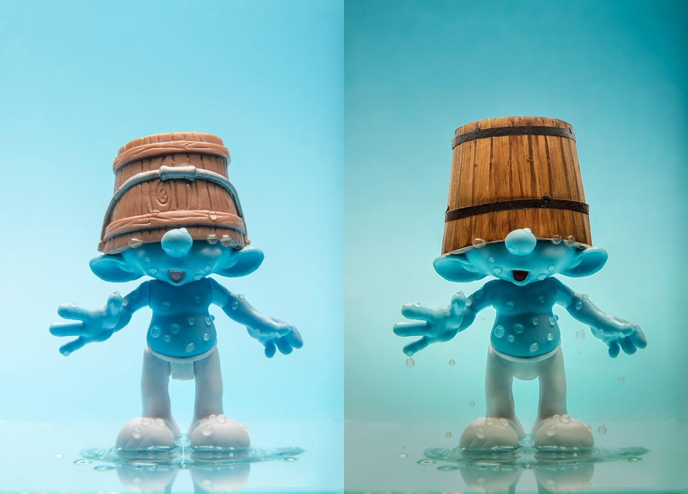 THE SMURF BEFORE AND AFTER