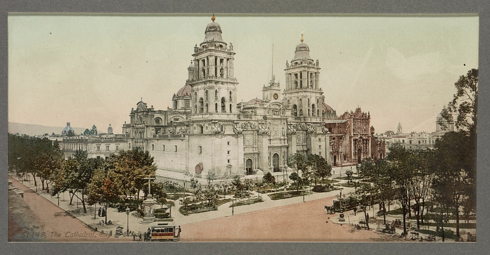 The cathedral, City of Mexico