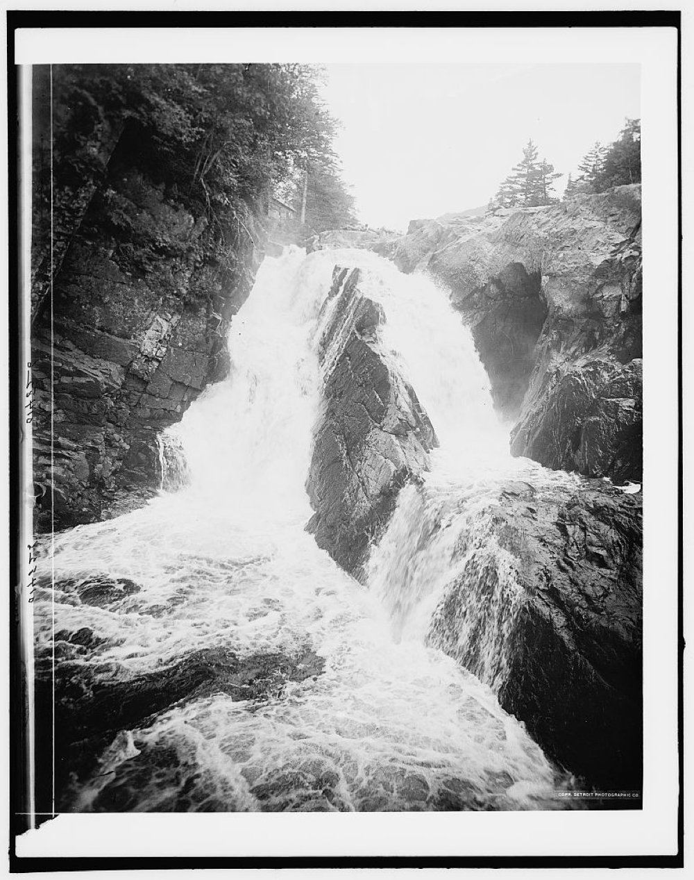 Wilmington High Fall, upper falls, Adirondack Mountains