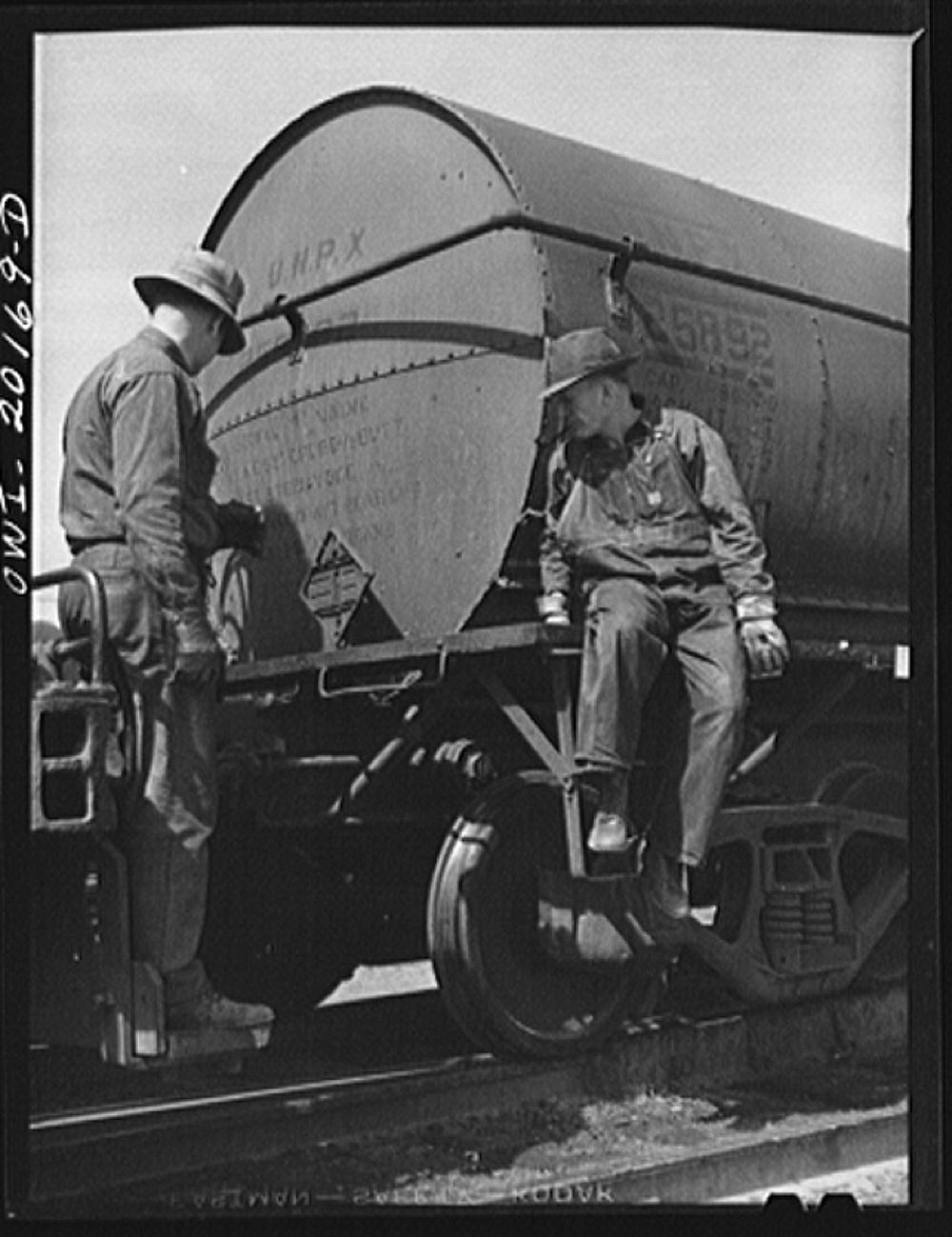 Amarillo, Texas. Atchison, Topeka and Santa Fe switchman