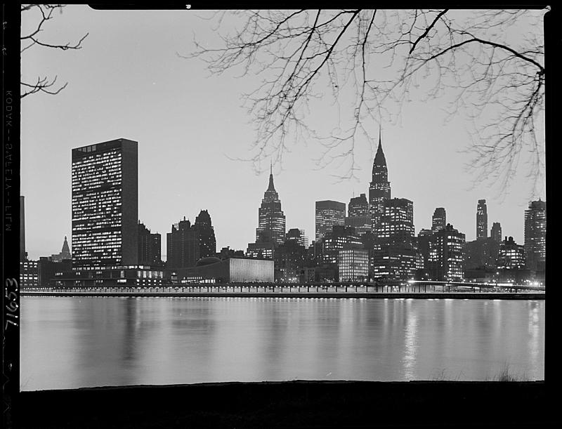 New York City views. Midtown from Welfare Island