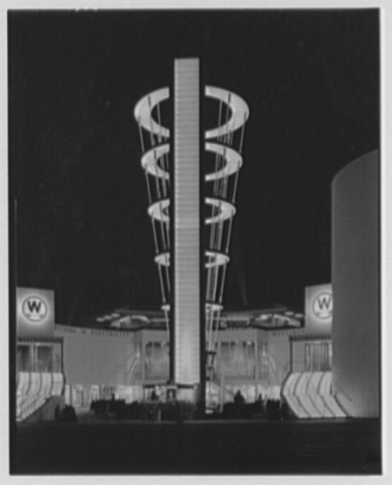 World's Fair night views. Westinghouse tower