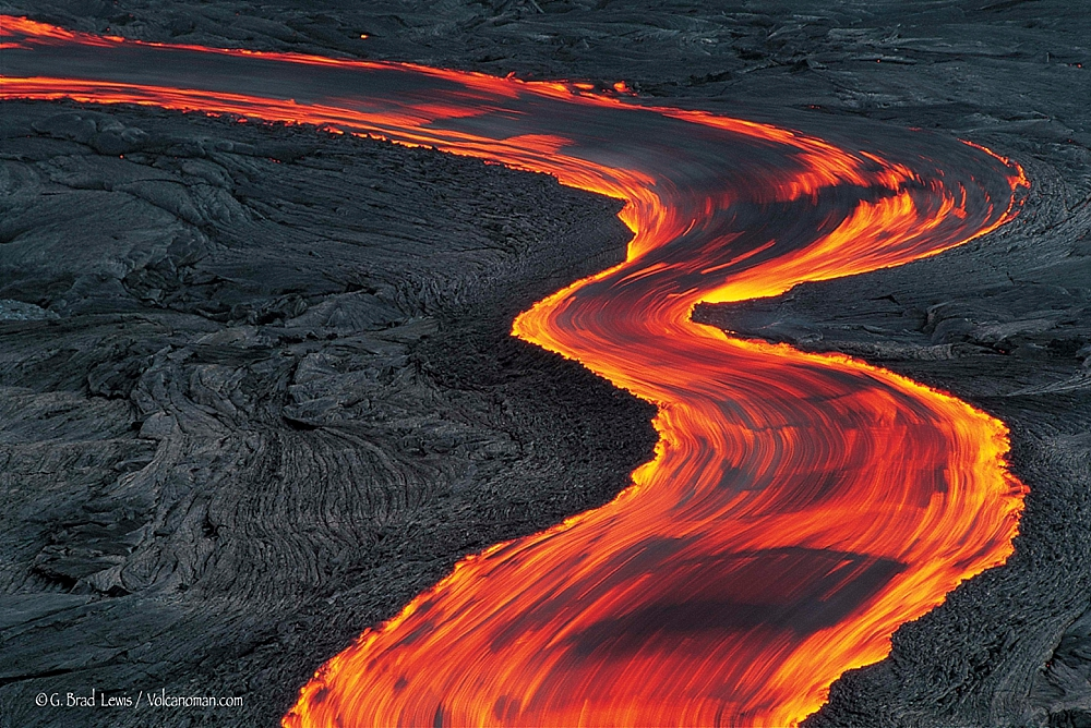 Volcanic Lava Flow - Image by Brad Lewis