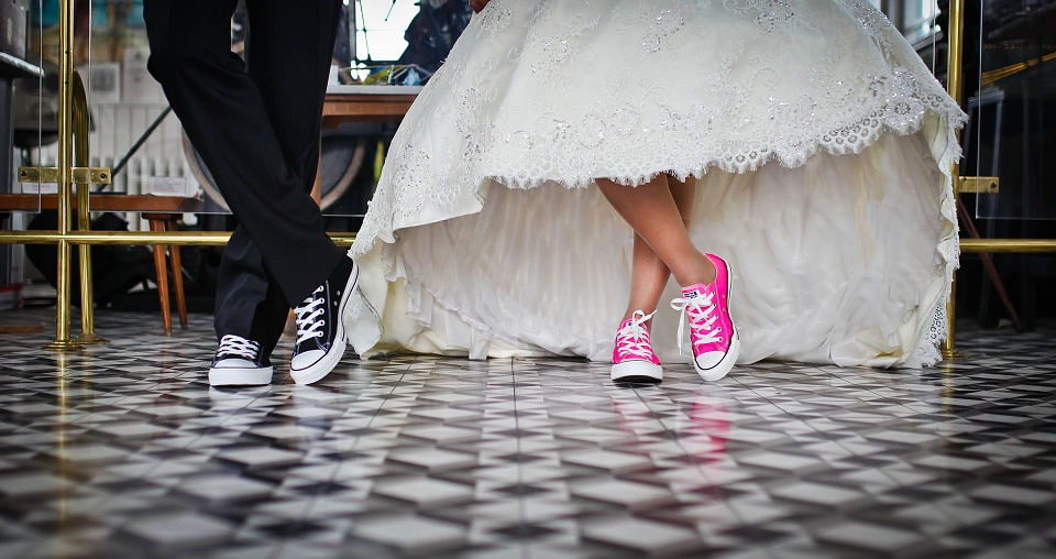 funny wedding shoes