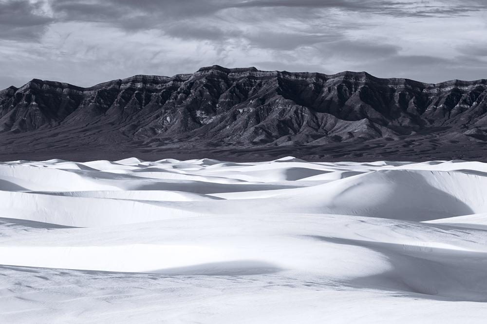 Black & White, White Sands NM, New Mexico, USA